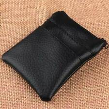 Mini Pu Leather Black Coin Purse Men Women Card Holder Short Wallet Bags 1Pc