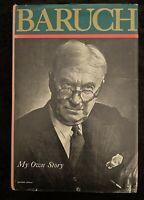 Baruch My Own Story HC Seventeenth Printing 1977 Bernard M Baruch Autobiography