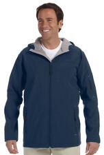 Devon & Jones Men's Interior Storm Flap Zippered Hooded Soft Shell Jacket. D998