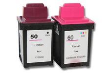 PACK 2 CARTOUCHE d'encre pour Lexmark 50, 17G0050 / 60, 17G0060