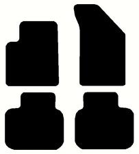 Dodge Journey, Custom Cut Black Floor Mats, 18 oz with Serged edge