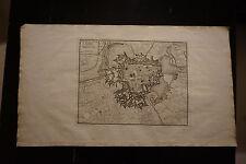 Carte- Plan de la ville d'IPRES ; Eugène Henry Fricx 1712
