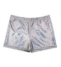 Unisex 80s Shiny Holographic Metallic Hot Pants Shorts Gay Pride Disco Festival