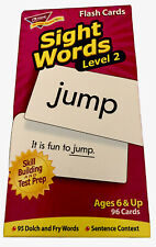 Trend Level 2 Sight Words 96 Flash Cards 3 3/8 X 6 1/4 Age 6+