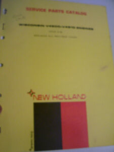 VINTAGE  NEW HOLLAND PARTS MANUAL -WISCONSIN ENGINES  - 1972