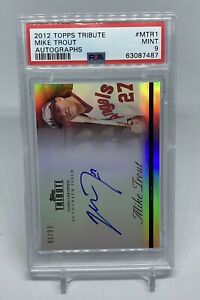 2012 Topps Tribute MTR1 Mike Trout Auto /99 PSA 9 Mint 2nd Year HOF MVP