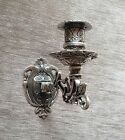 Antiguo candelabro de pared, Candelabro de pared, Piano , latón bruñido, Plata