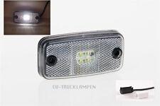 LED UMRISSLEUCHTE WEIß - 4 LED UNI 12/24V - 110 x 54mm + QS SCHNELLMONTAGESYSTEM