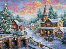 Holiday Village Snow Covered Village Counted Cross Stitch Kit Dimensions