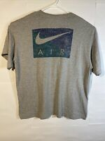 Vintage Nike Air T-Shirt Made In USA; Mens Xl; Swoosh Logo; Spell Out; Gray