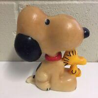 """Vintage Snoopy 6"""" Candle Large Peanuts Woodstock Character Hallmark Figurine"""