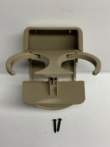 2005 Chevrolet Equinox Rear Seat Cup Drink Holder Back Center Console Tan Beige