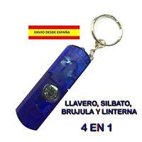 SUPERVIVENCIA CAMPING 4 EN 1 LED ROJA SILBATO BRÚJULA Y LLAVERO ÚTIL Y COMODA