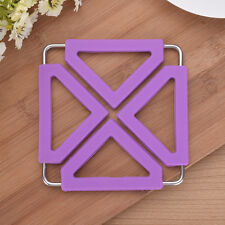 Silicone & Stainless Steel Trivet Mat Heat Resistant Foldable Pan Pot Holder