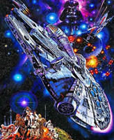 5D DIY Full Drill Diamond Painting Embroidery Kit Art Craft Home Decor Star Wars