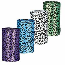 Trixie Dog Dirt Bags Leopard Print Large 4 Rolls Of 20 Assorted Colours Poo