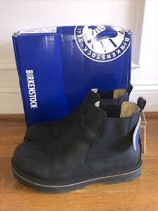 Birkenstock Black Stalon Chelsea Boots Size 45 Reg Width Men's Sz 12 EUC In Box