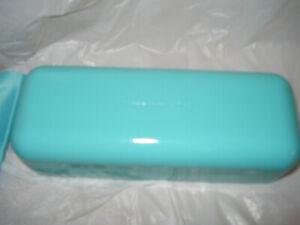 Tiffany's hard eye glass case Blue  With Cloth