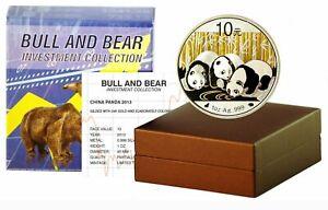 10 Yuan China 2013 Panda Bull&Bear Blueline 2013