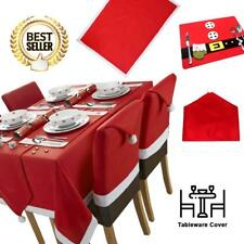 Santa's Table Red And White Christmas Tablecloth Mega Package Sets
