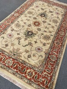 Oushak Area Rug 5' x8' Wool Hand Made / Knotted  New Woven rare A+ fine L.Gold