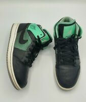 Nike Air Jordan 1 Retro 89 Mid Basketball Shoes Size 8 Black Green 599873-033