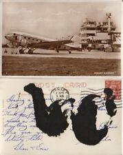 British European Airways Jersey Airport - Real Photo RPPC 1952 - Poor Fair Back