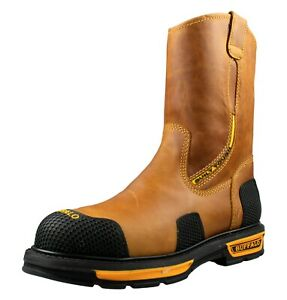 Buffalo & Bull Men's Work Boots Genuine Leather Color Crazy Honey