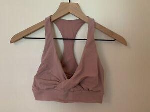EUC Lululemon Twist Front Bra 8 Pink