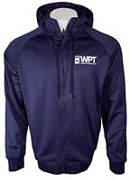 New - WPT Full-Zip Navy Blue Cotton Poker Hoodie with Pockets - FREE SHIPPING