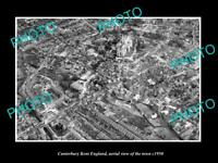 OLD 6 X 4 HISTORIC PHOTO OF CANTERBURY KENT ENGLAND AERIAL VIEW OF TOWN c1950 3