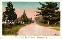 Vintage Postcard - Un-Posted Drive Towards Hancock Hotel New Hampshire NH #5047