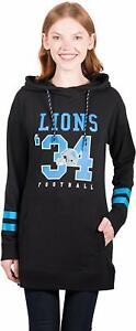 Ultra Game Women's NFL Detroit Lions Tunic Hoodie Pullover Sweatshirt Terry XL