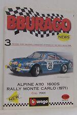 Renault Alpine A 110 1600 und andere Bburago Neuheiten,Voranzeigen 05.1998