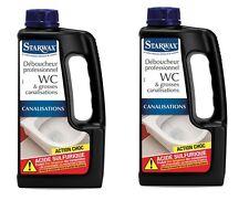2 DEBOUCHEUR WC PROFESSIONNEL STARWAX 5538 dissout serviette hygiénique papier