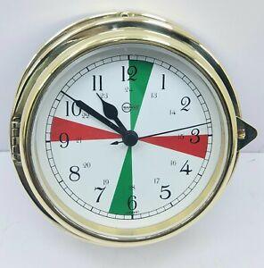 Viking Brass Quartz Ship's Radio Sector Clock