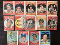 ⚾️1959 Topps Baseball Cards Chicago White Sox Lot Of 14 Nellie Fox Aparicio⚾️