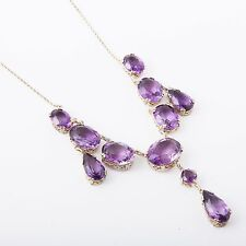 Antique, 19th Century Amethyst Necklace, Sterling Silver