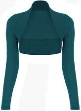 Womens Long Sleeved Bolero Shrug Jacket Top Ladies Cardigan Size 6-22 UK-Bole