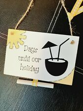 Chalkboard countdown family holiday cocktail plaque with chalkboard. Days until