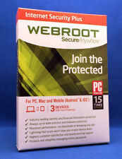 Webroot Internet Security Plus | 3-Devices | 1-Year | Instant 2018 Update