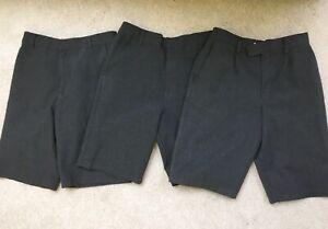 M&S 10-11 Years Grey Shorts 3 Pairs Boys School Uniform set bundle adjustable 10