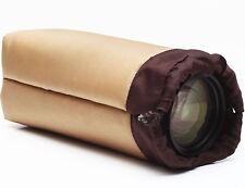 "Vintage Soft Lens Case Pouch Padded For Telephoto Zoom Prime Lenses 9"" High"