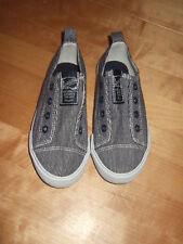 *H&M Sneaker Baumwolle blau weiss Gr. 28*