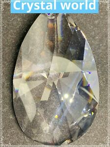 Large faceted Tear drop prism ASFOUR CRYSTAL 880-4 inch 1 Hole Chandelier Parts