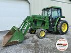 1995 JOHN DEERE 6200 TRACTOR W/ LOADER, CAB, 2WD, 4 REMOTES, HEAT A/C, 3600 HRS