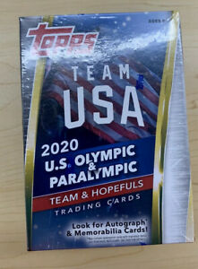 2020/21 TOPPS Team USA Olympic and Paralympic Blaster Box Sealed🔥NEW