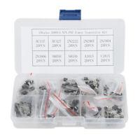 20Pcs Transistor 2N2907 2N3904 2N3906 A1015 Components Set KIT Box BC337 2N2222