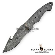 "9.00"" Handmade Damascus Steel Blank Blade Skinner Knife Making Supplies AB11"