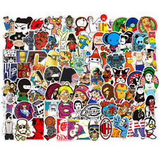 Lot 200 Random Vinyl Laptop Skateboard Stickers Bomb Luggage Decals Dope Sticker